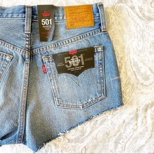 LEVI'S 501 Micro Button Fly Jean Shorts 28 NWT